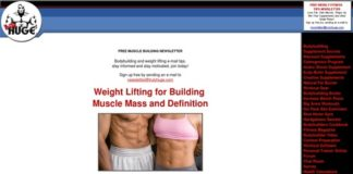 Weightlifting eBooks, Weight Lifting for Muscle Mass and Definition