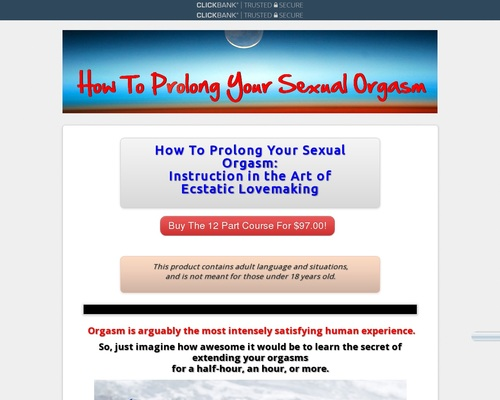 How To Prolong Your Sexual 0rgasm