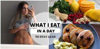 WHAT I EAT IN A DAY| STAY LEAN IN QUARANTINE| UPPER BODY CIRCUIT AT HOME | HEALTHY MORNING ROUTINE!!